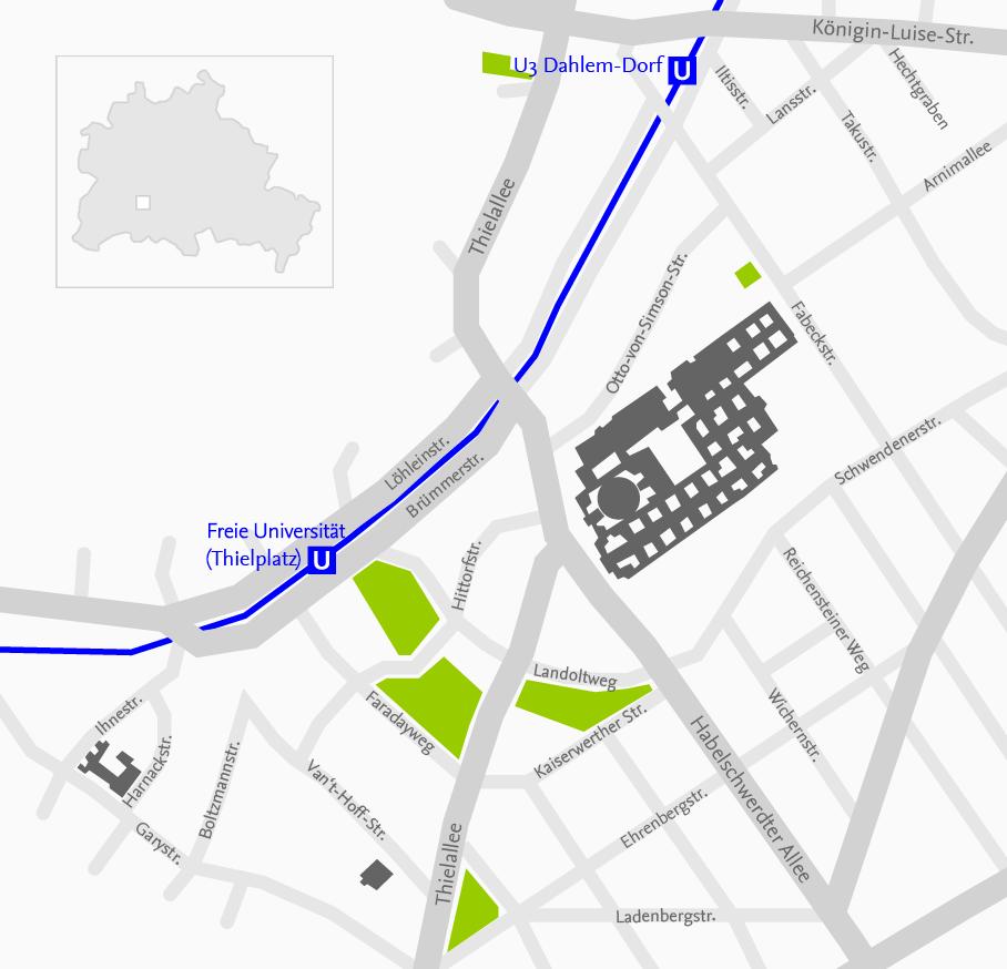 Fu Berlin Lageplan