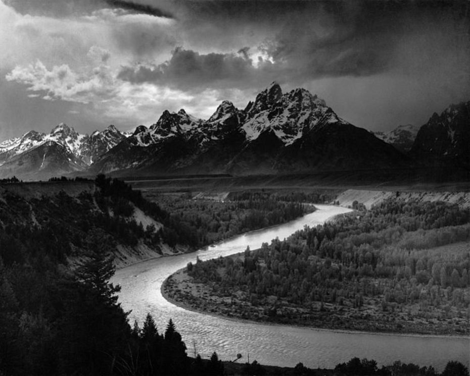 Ansel Adams, The Tetons and the Snake River (1942), Grand Teton National Park, Wyoming, National Archives