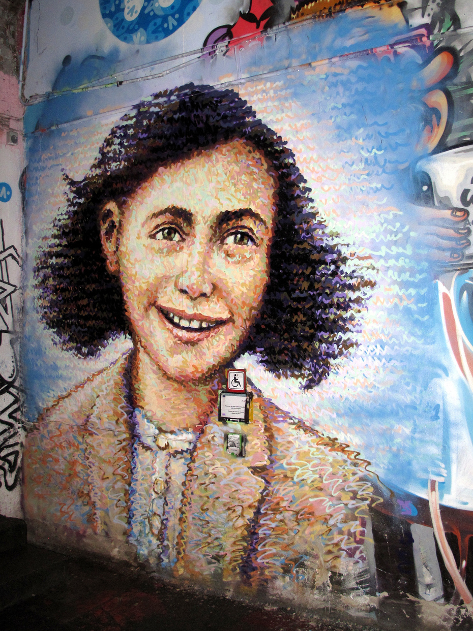 Anne Frank-Graffiti in Berlin