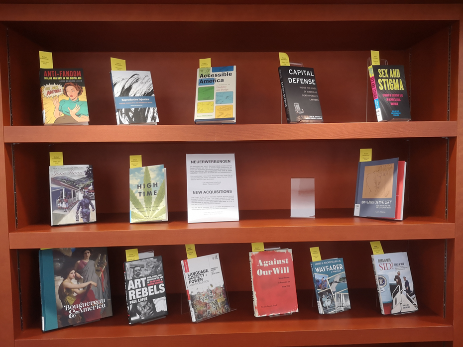 New Aquisitions of the JFKI's very own North American Studies Library