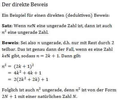 beweise mathematik studium